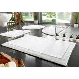 Home affaire Badematte »Kapra« , Höhe 10 mm, beidseitig nutzbar, Bio Baumwolle, weiß