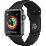 Apple Series 3 GPS, Aluminiumgehäuse mit Sportarmband 38mm Watch (Watch OS 5), Space Grau-schwarz