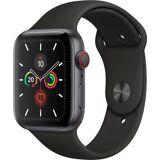 Apple Series 5 GPS + Cellular, Aluminiumgehäuse mit Sportarmband 44mm Watch (Watch OS 6)
