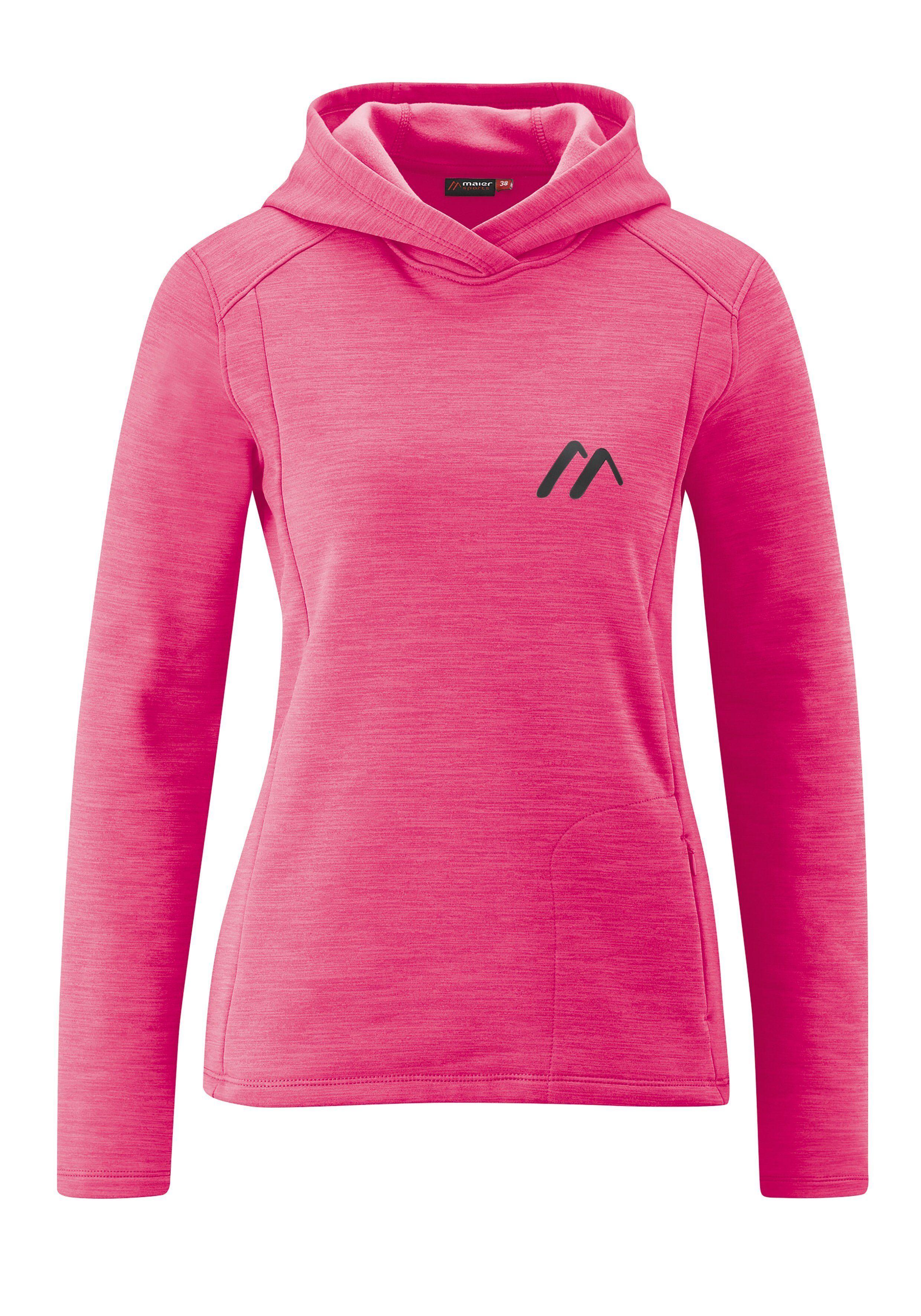 Maier Sports Funktionsjacke »Ulva W« Kuscheliger Hoody für Freizeit und Reise, pink