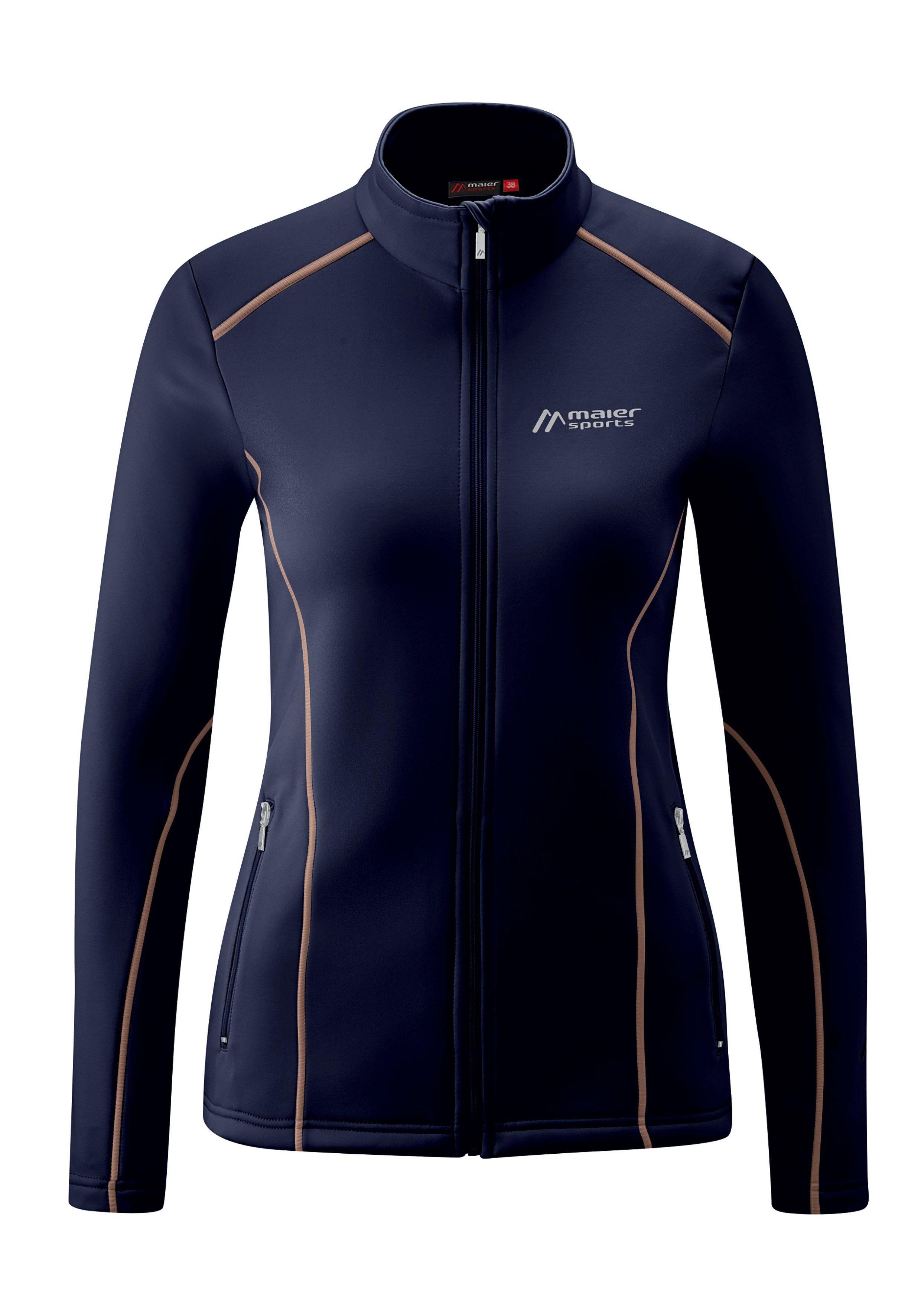 Maier Sports Fleecejacke »Juana« Für Ski, Outdoor und die Freizeit, dunkelblau