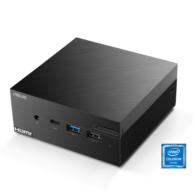 Asus PN40 - Windows 10 Mini-PC (Intel Celeron, UHD Graphics 600, 16 GB RAM, 1000 GB SSD, passiver CPU-Kühler)