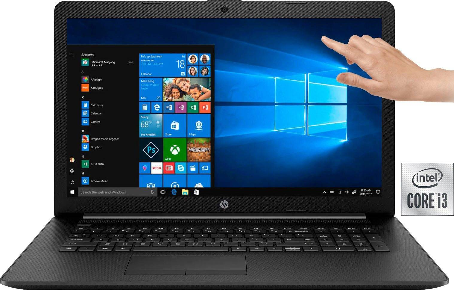 HP 17-by3225ng Notebook (43,9 cm/17,3 Zoll, Intel Core i3, UHD Graphics, - GB HDD, 512 GB SSD, inkl. Office-Anwendersoftware Microsoft 365 Single im Wert von 69 Euro)