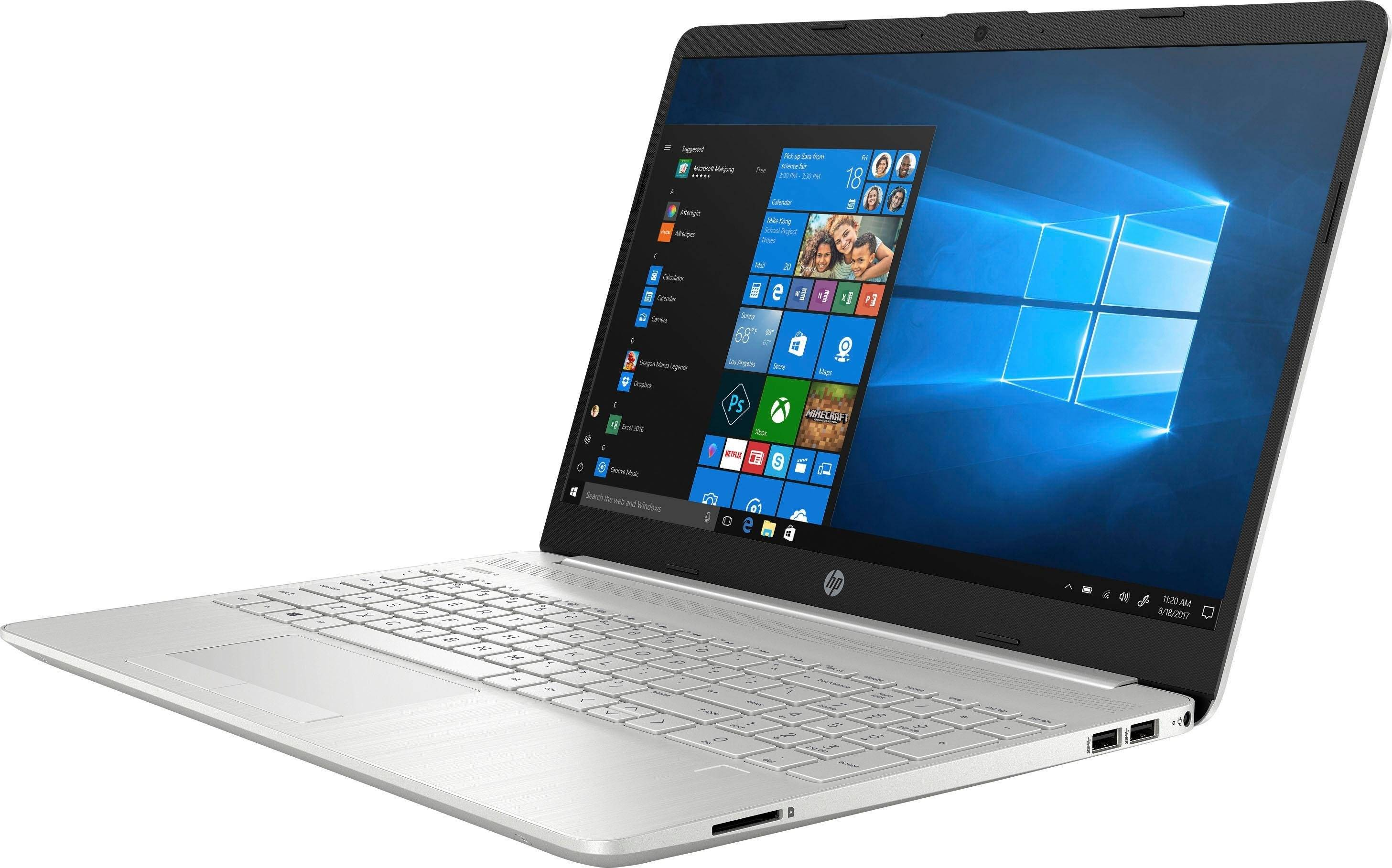 HP 15-dw1266ng Notebook (39,6 cm/15,6 Zoll, Intel Core i5, GeForce MX130, 1000 GB HDD, 256 GB SSD, inkl. Office-Anwendersoftware Microsoft 365 Single im Wert von 69 Euro), Natural Silver