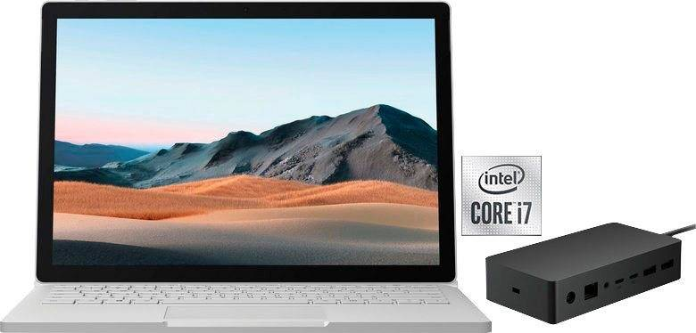 Microsoft Surface Book 3 SET Notebook (34,29 cm/13,5 Zoll, Intel Core i7, 256 GB SSD, inkl. Office-Anwendersoftware 365 Single im Wert von 69 Euro)