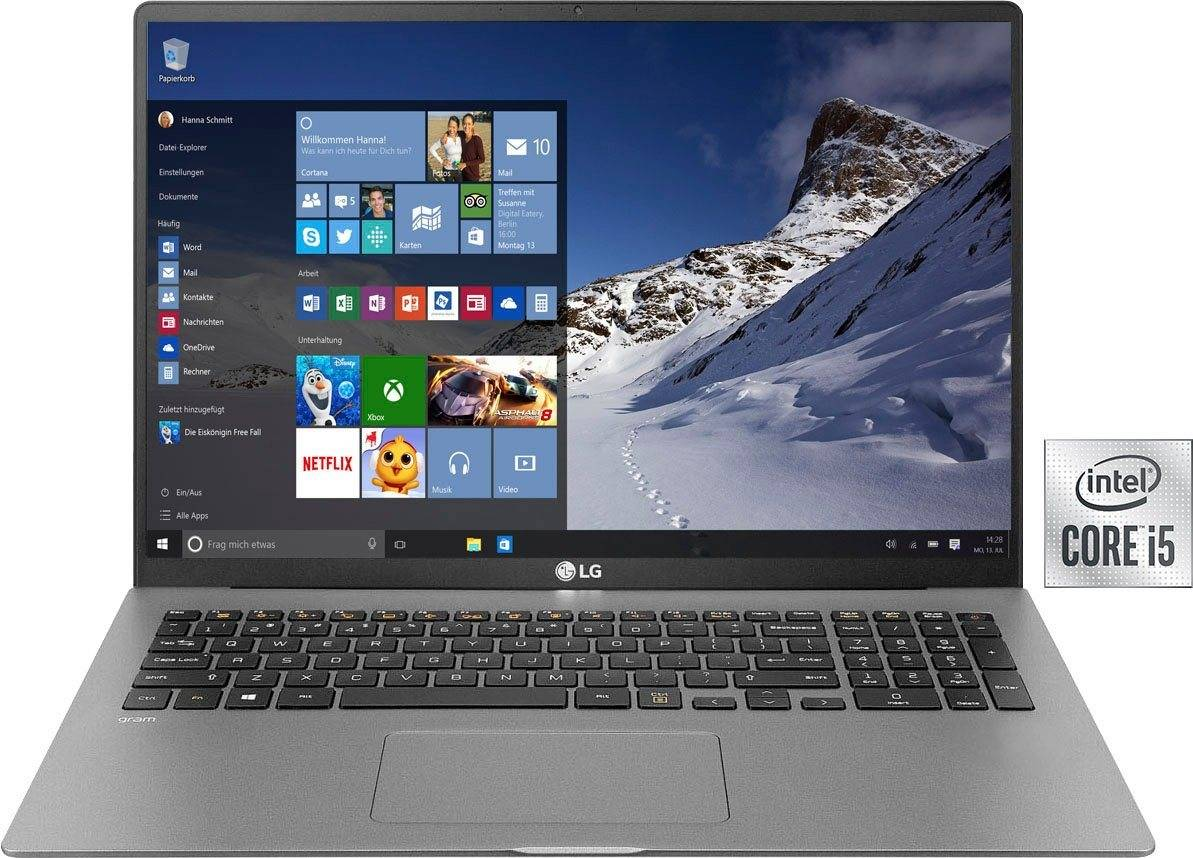 LG gram 17 Notebook (43,18 cm/17 Zoll, Intel Core i5, Iris Plus Graphics, 512 GB SSD, inkl. Office-Anwendersoftware Microsoft 365 Single im Wert von 69 Euro)