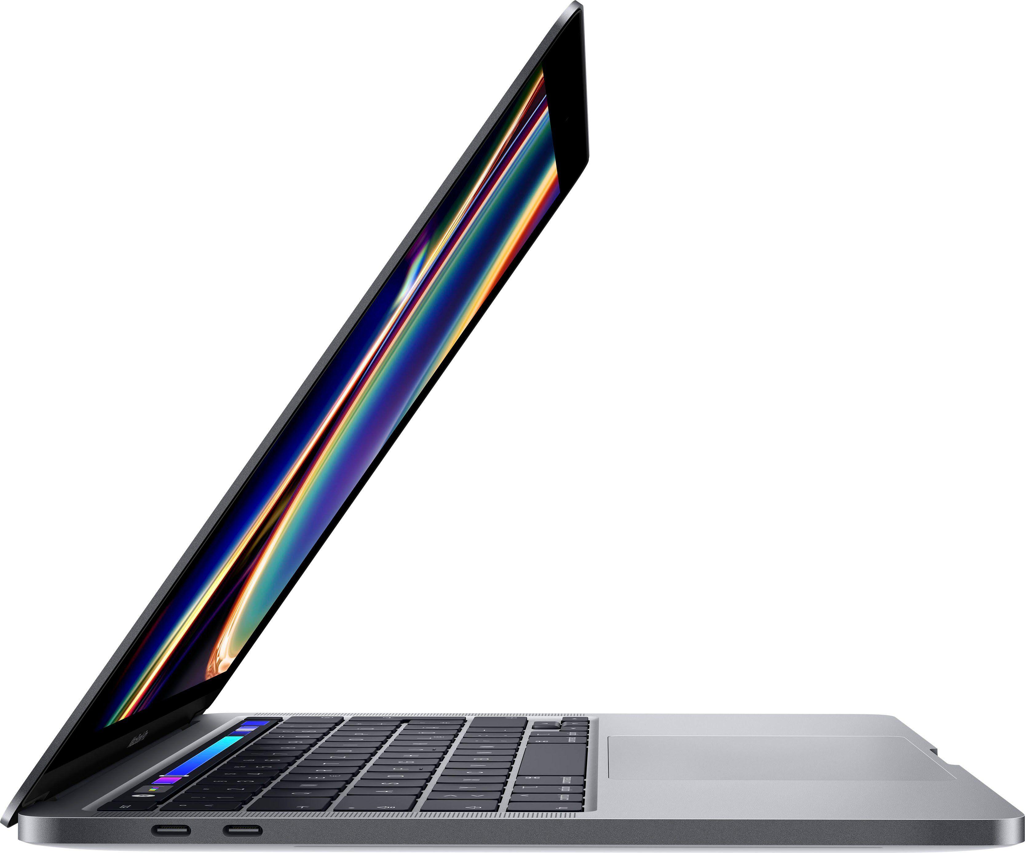 Apple MacBook Pro Notebook (33,78 cm/13,3 Zoll, Intel Core i5, Iris Plus Graphics 645, - GB HDD, 512 GB SSD), space Grau