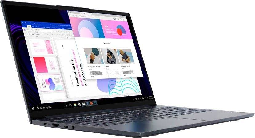 Lenovo Yoga Slim 7 15IIL05 Notebook (39,6 cm/15,6 Zoll, Intel Core i5, GeForce, 1000 GB SSD, inkl. Office-Anwendersoftware Microsoft 365 Single im Wert von 69 Euro)