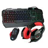 MARVO Gaming Spar Set, RGB Maus, Tastatur, Headset »KG745, G981, HG9016 RD«, schwarz