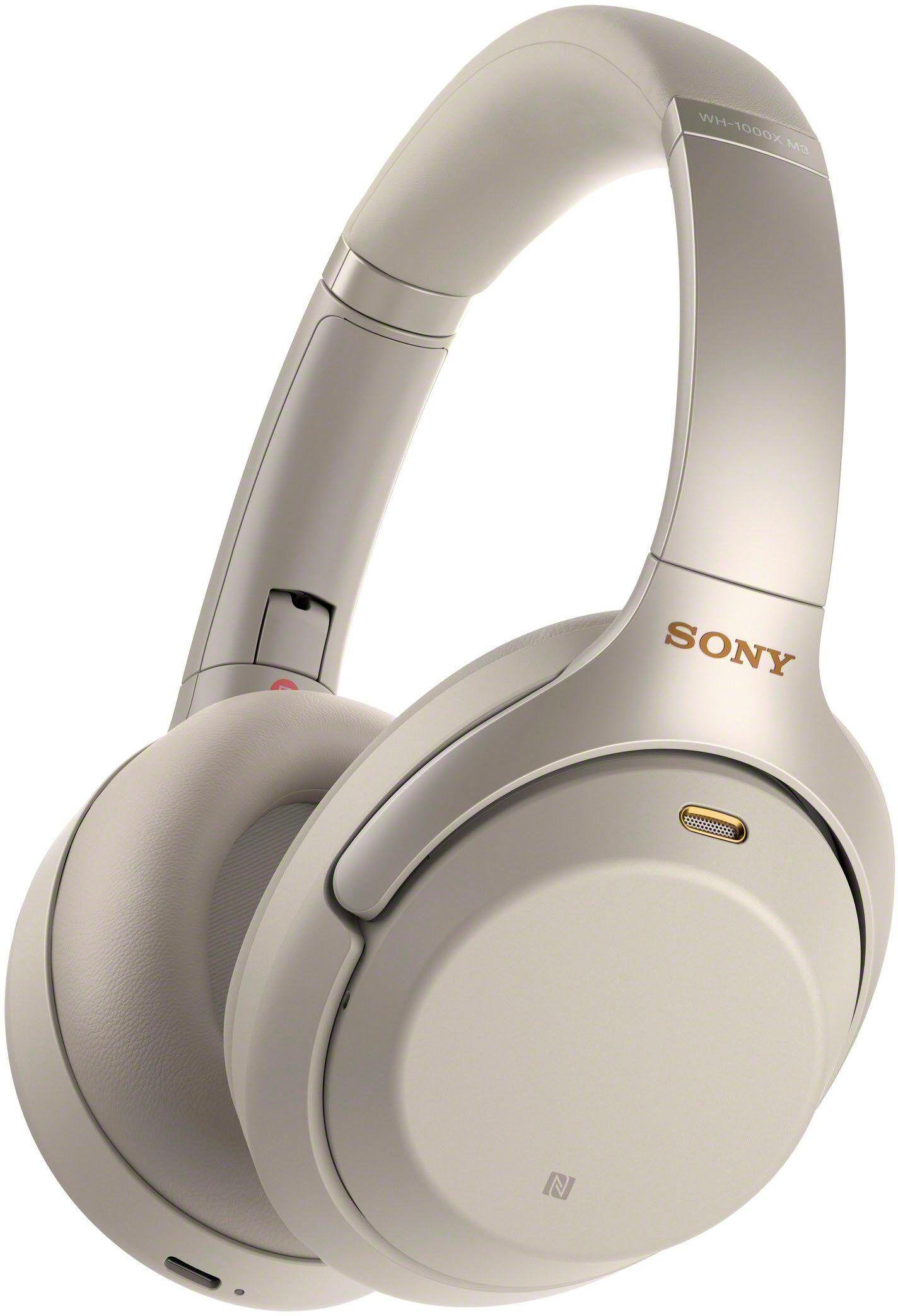 Sony »WH-1000XM3« Over-Ear-Kopfhörer (Bluetooth, NFC, Headset mit Mikrofon, Touch Sensor, Schnellladefunktion), Silber