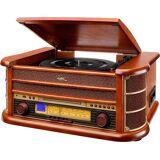 Dual »NR 4« Stereoanlage (FM-Tuner, AM-Tuner, Plattenspieler mit automatischer Tonarmrückführung), braun