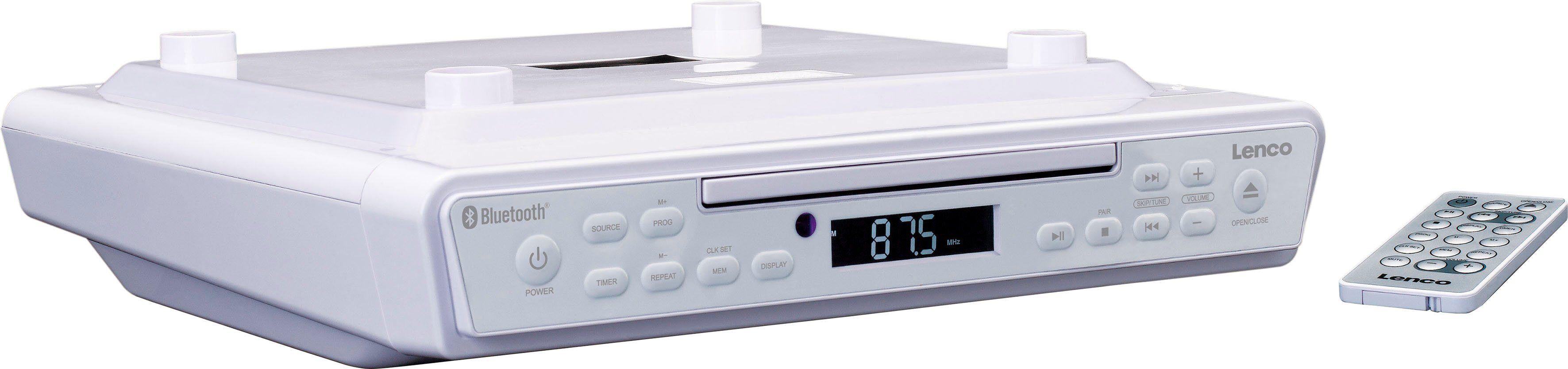 Lenco »KCR-150« Küchen-Radio (FM-Tuner, 6 W), weiß
