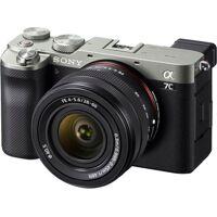 sony »ilce-7cls - alpha 7c e-mount mit sel2860« vollformat-digitalkamera (fe 28–60 mm f4–5,6, 24,2 mp, fe 28–60 mm f4–5,6, 24,2 mp, 4k video, 7,5cm (3 zoll) touch-display, echtzeit-af, 5-achsen bildstabilisierung, nfc, bluetooth)