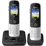 Panasonic »KX-TGH722 Duo« Schnurloses DECT-Telefon (Mobilteile: 2, mit Anrufbeantworter), schwarz