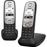 Siemens Gigaset »A415« Schnurloses DECT-Telefon (Mobilteile: 2, Nachtmodis, Freisprechen), schwarz