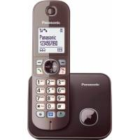 panasonic »kx-tg6811gs« schnurloses dect-telefon (mobilteile: 1, mit anrufer- und wahlsperre), braun