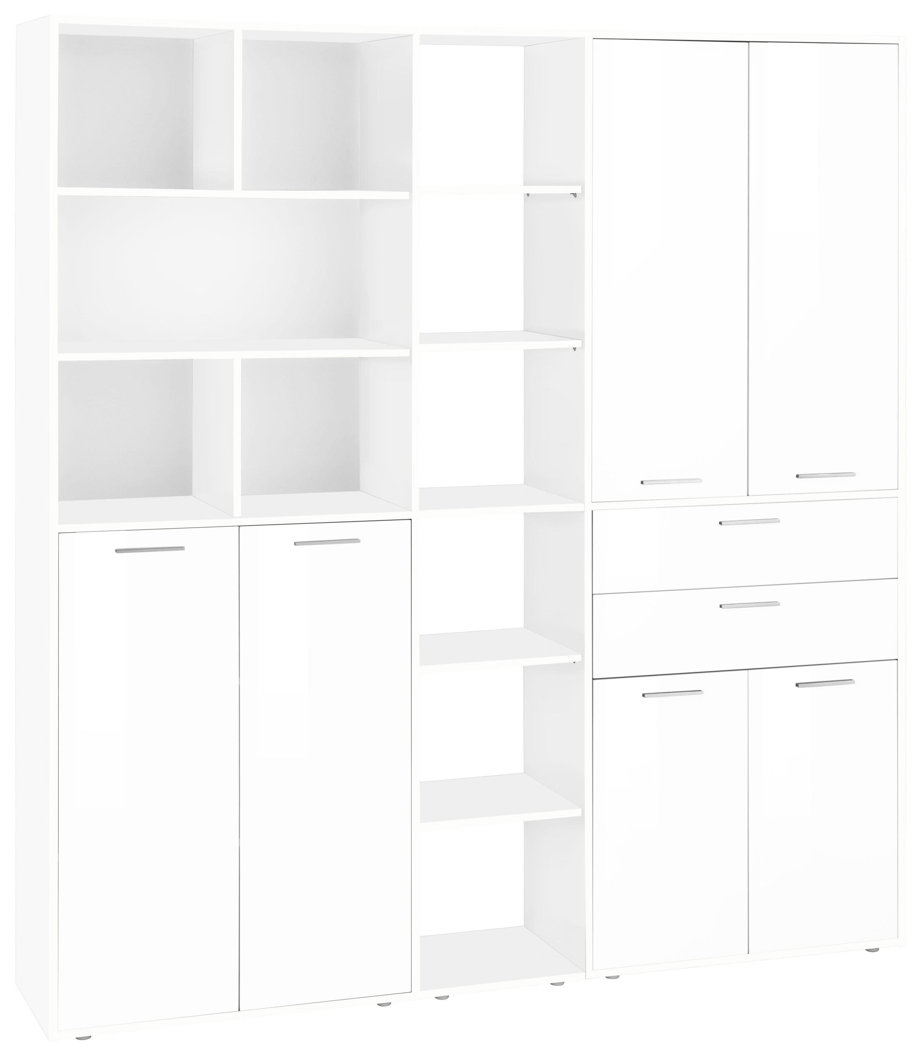 Tecnos Aktenschrank »Esse« mit 6 Türen, weiß/weiß Hochglanz