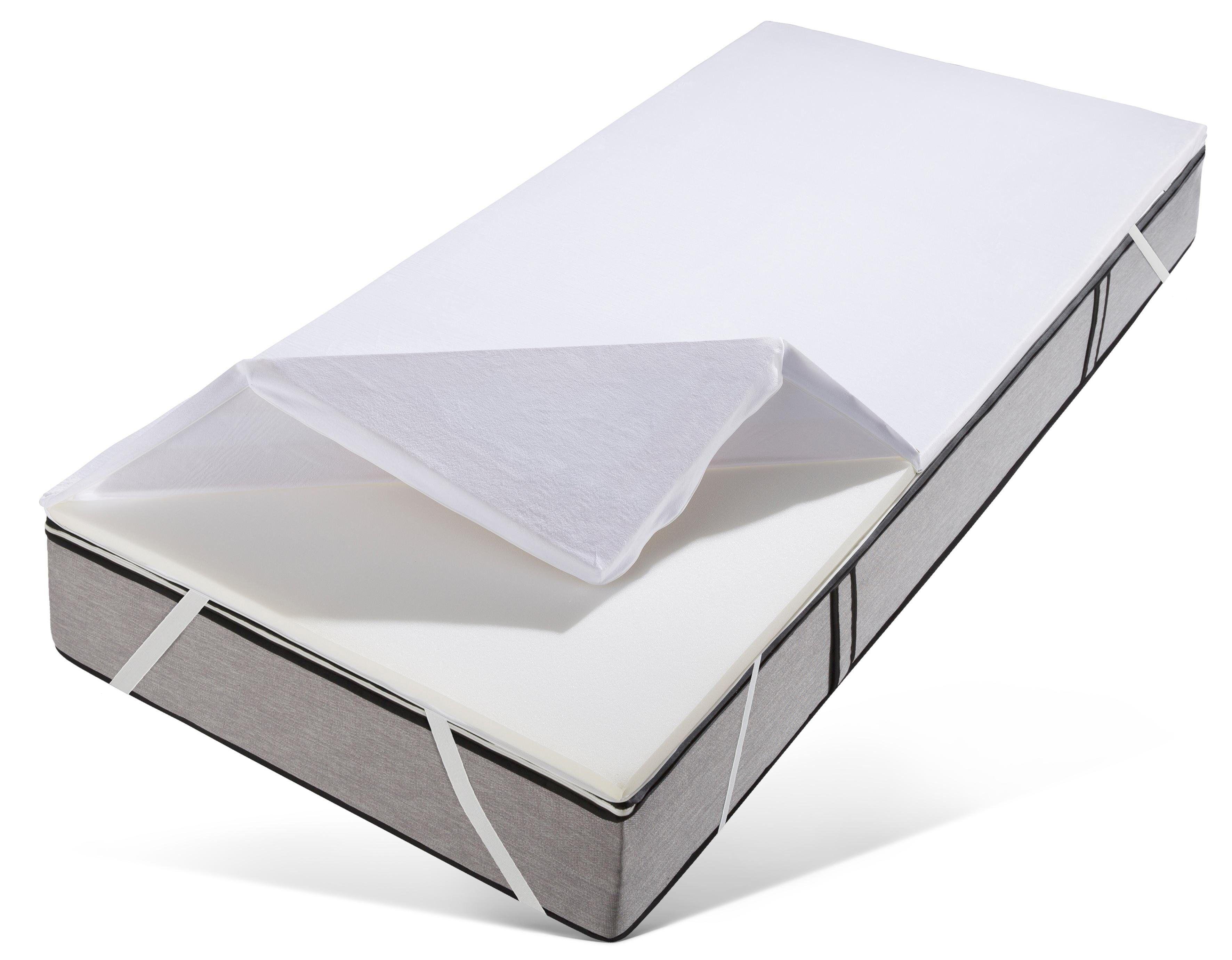 OTTO Topper »Rylee«, , 3,5 cm hoch, Raumgewicht: 50, Viscoschaum, Besonders kuscheliger Bezug und eine Druckentlastung wie beim Schlafen auf Wolken