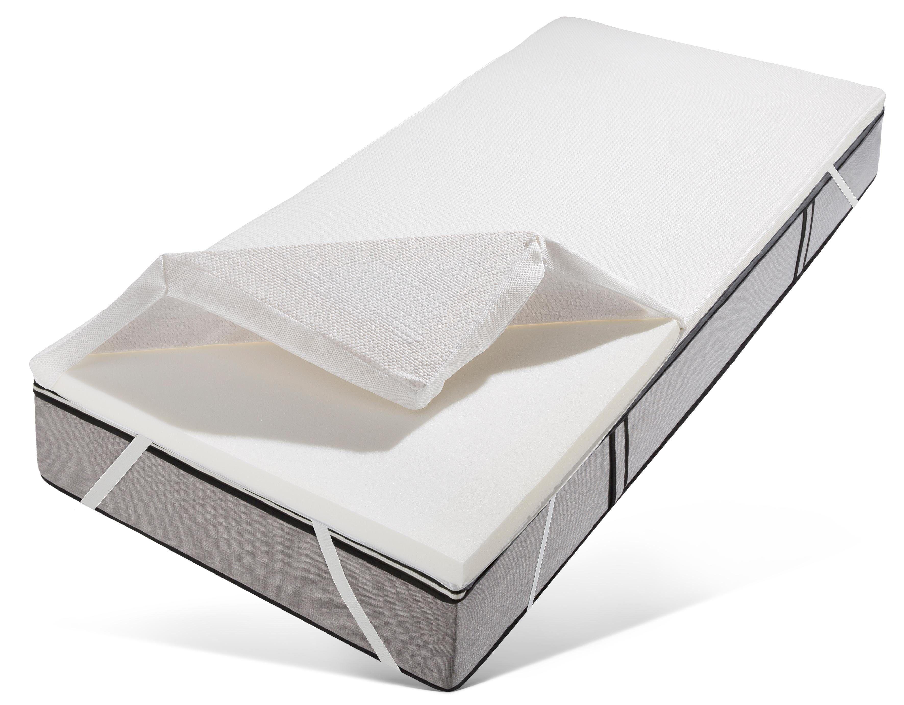 OTTO Topper »Zachy«, , 6 cm hoch, Raumgewicht: 43, Kaltschaum, Mit 3D-Klimaband für ideale Luftzirkulation