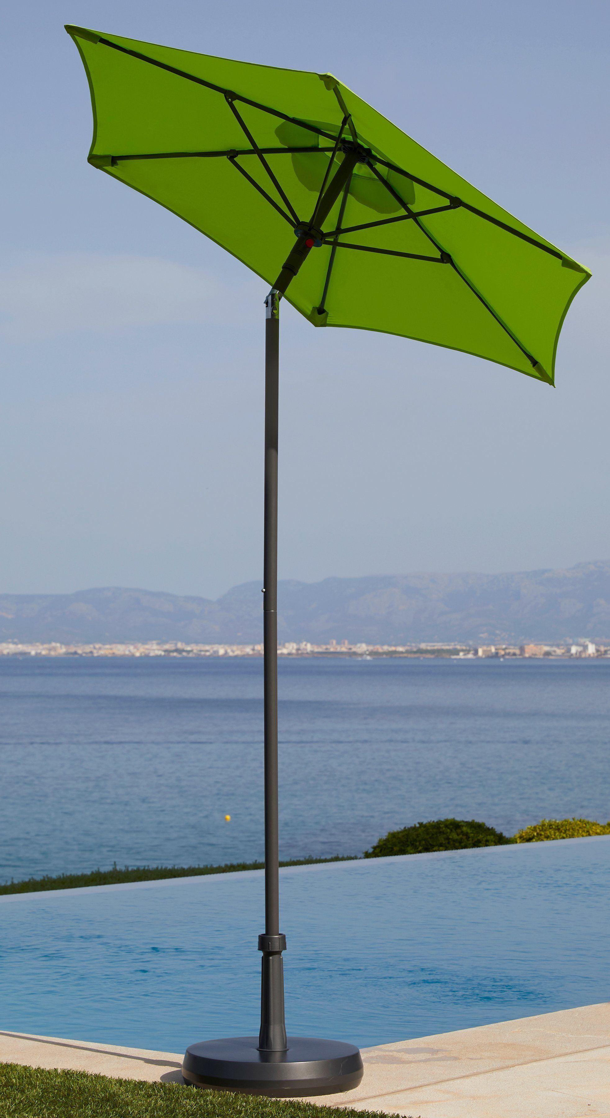 garten gut Sonnenschirm »Push up Schirm Rom«, Ø 150 cm, grün