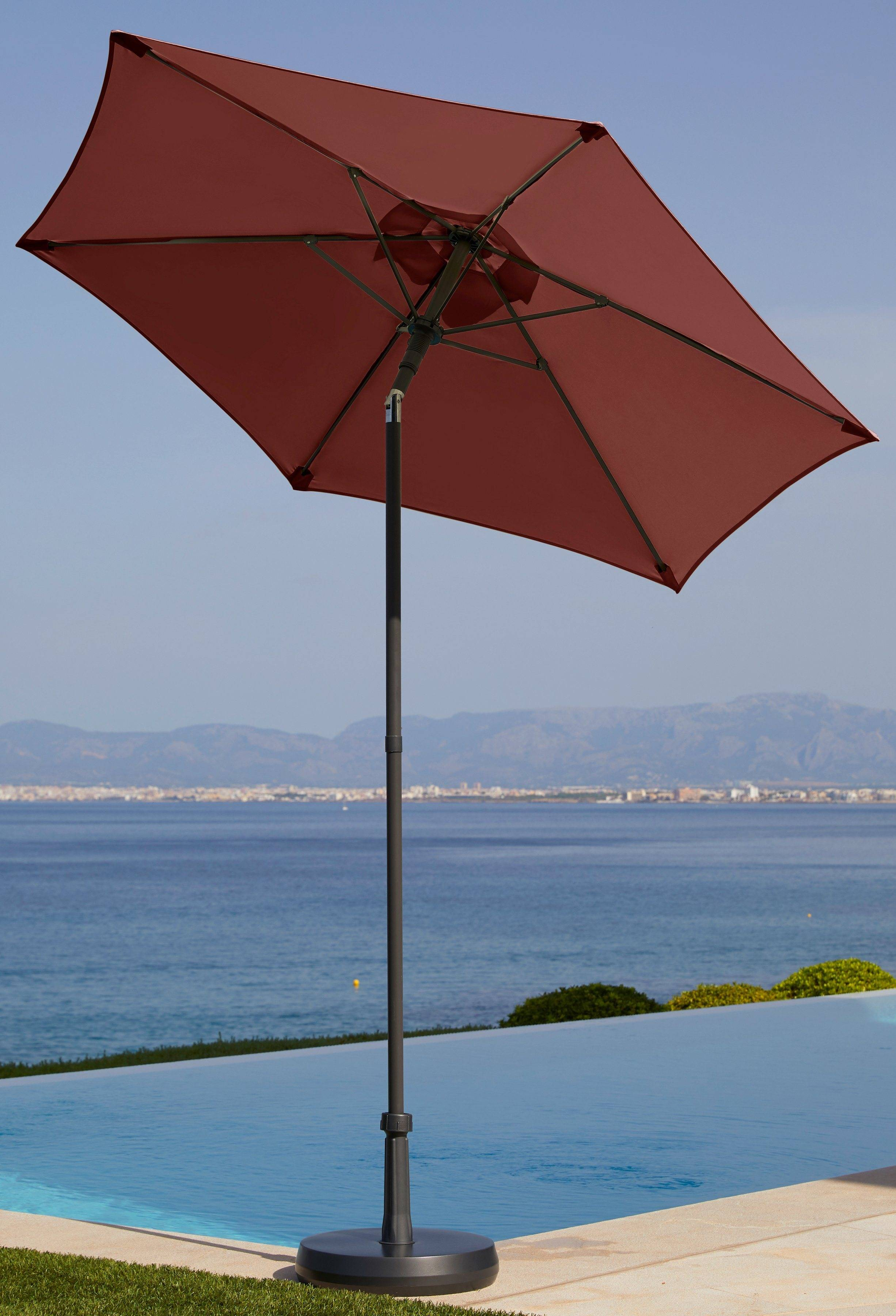 garten gut Sonnenschirm »Push up Schirm Rom«, Ø 200 cm, rot