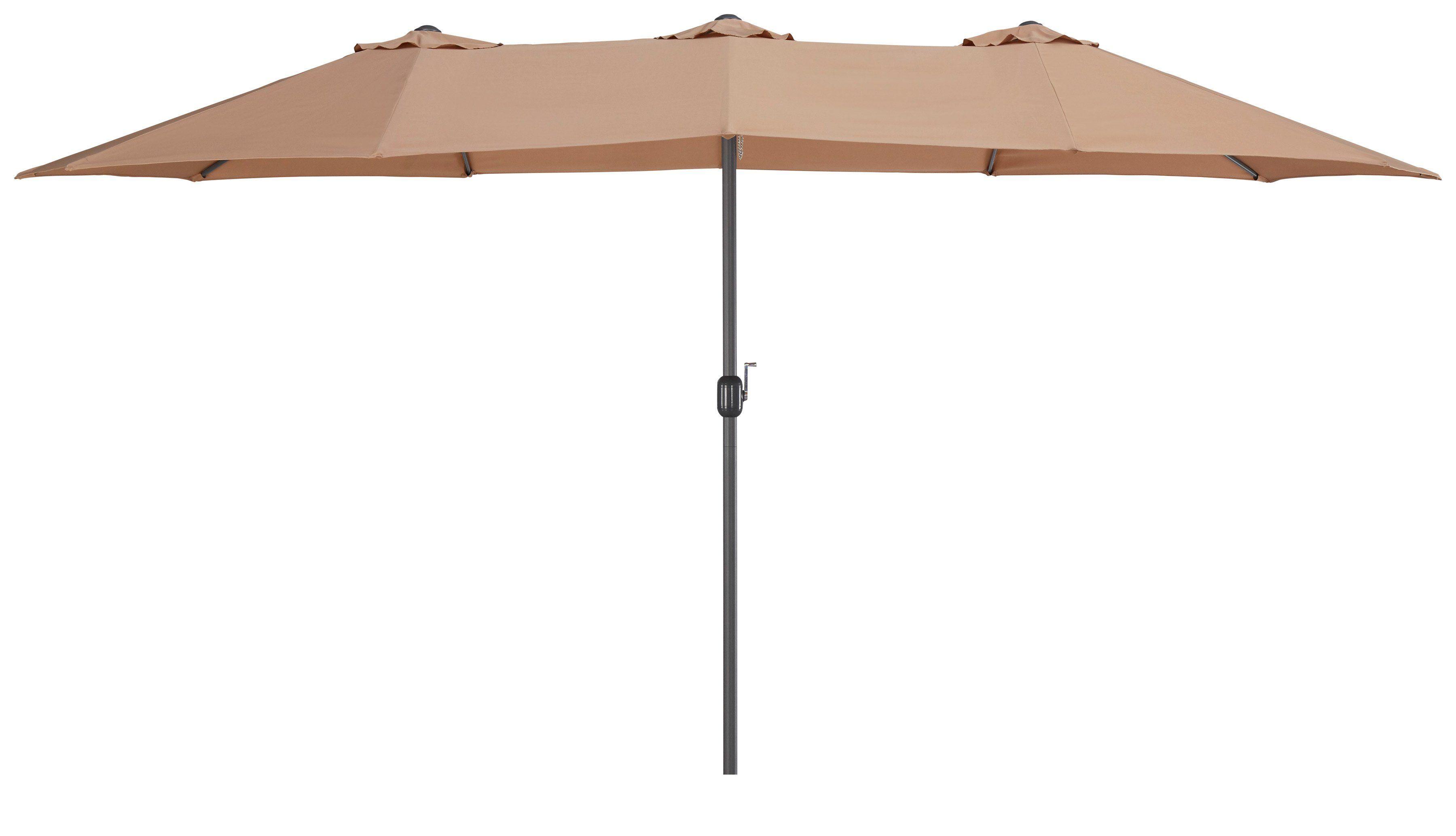 garten gut Sonnenschirm »Fuerteventura«, H: 240 cm, Inkl. Schutzhülle, Ohne Schirmständer, beige