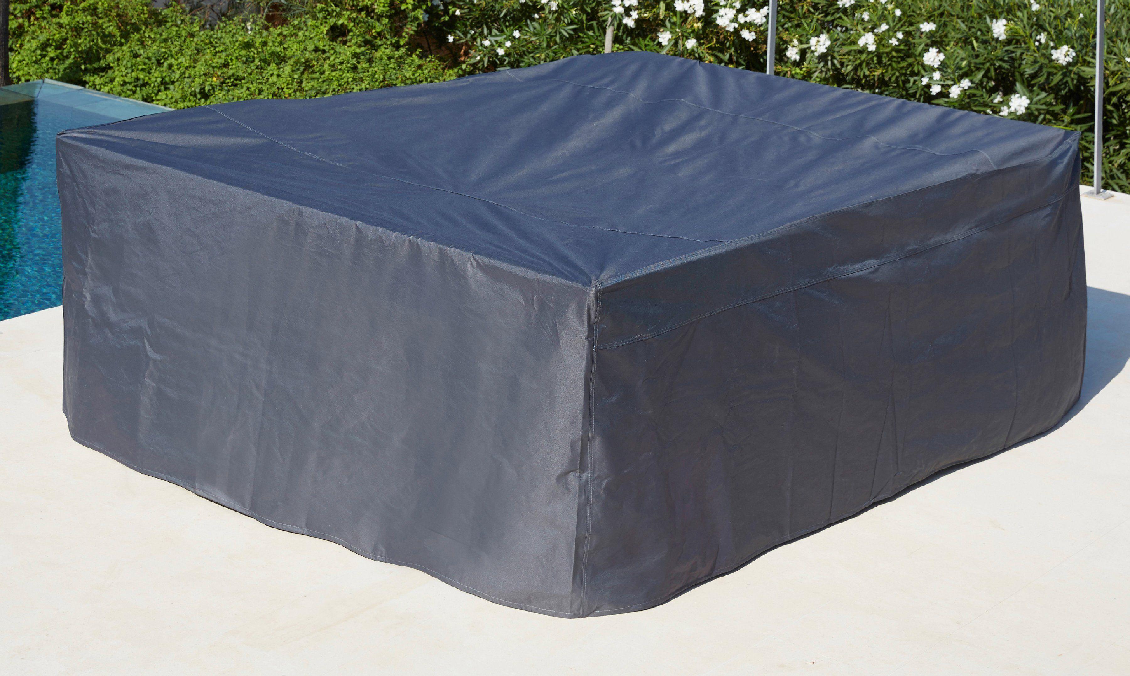 garten gut Schutzhülle Eckloungeset, (L/B/H): ca. 200x251x85 cm, grau