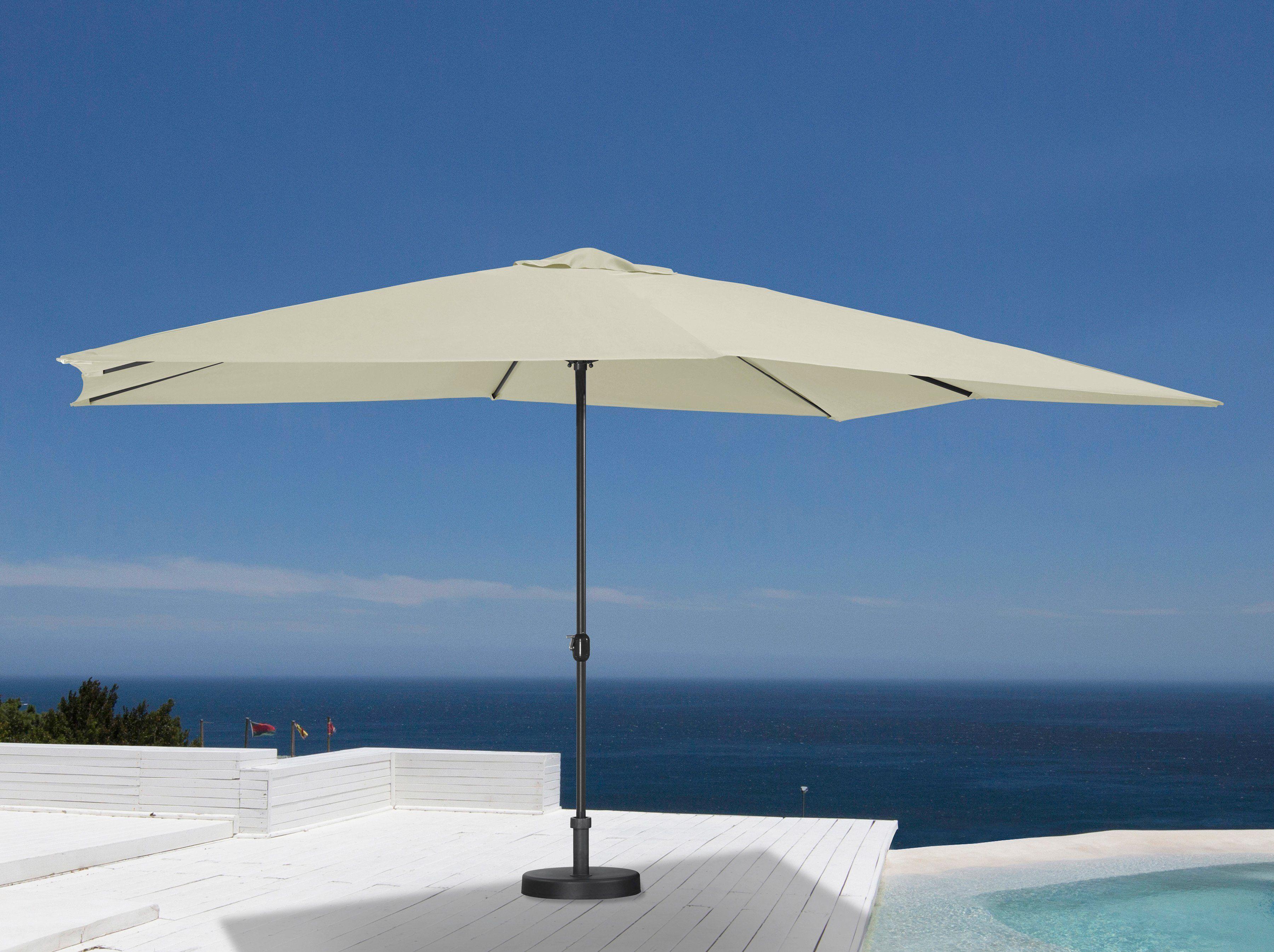 garten gut Sonnenschirm 300x400 cm, cremefarben