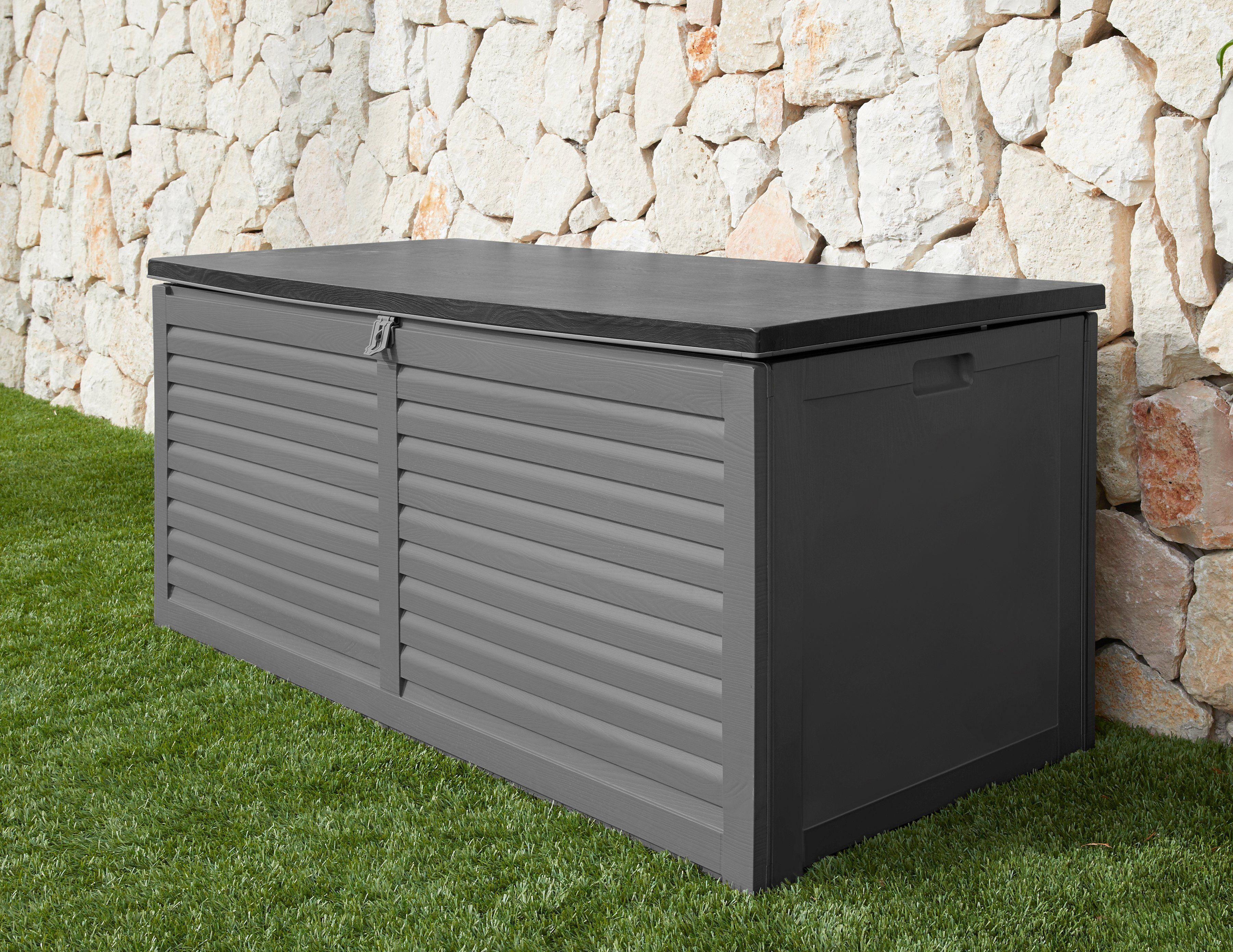 garten gut GARTENGUT Auflagenbox 146,6x64,4x61 cm, hellgrau, grau