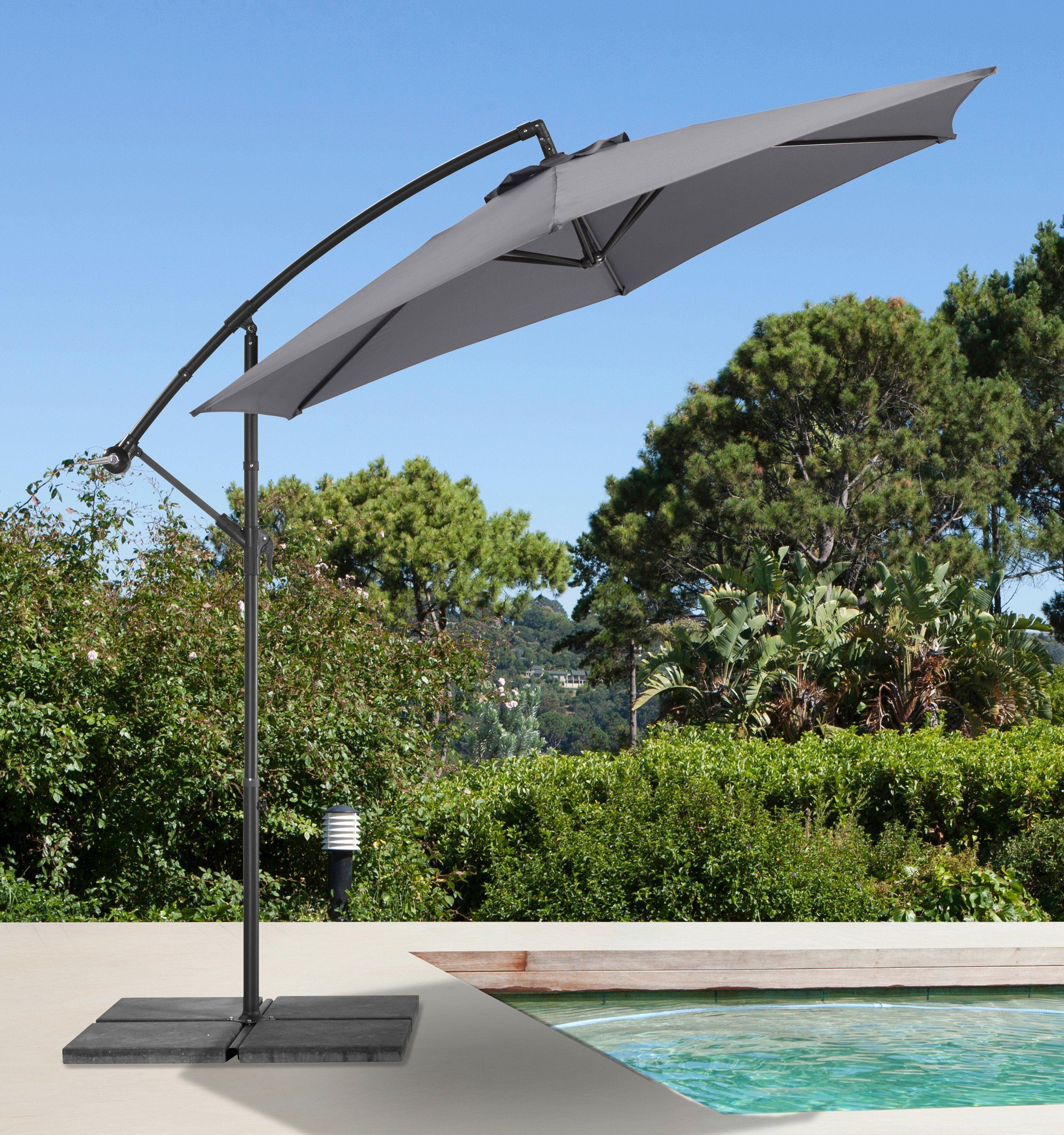 garten gut Ampelschirm »Sunshine«, H/Ø: 210/300 cm, grau