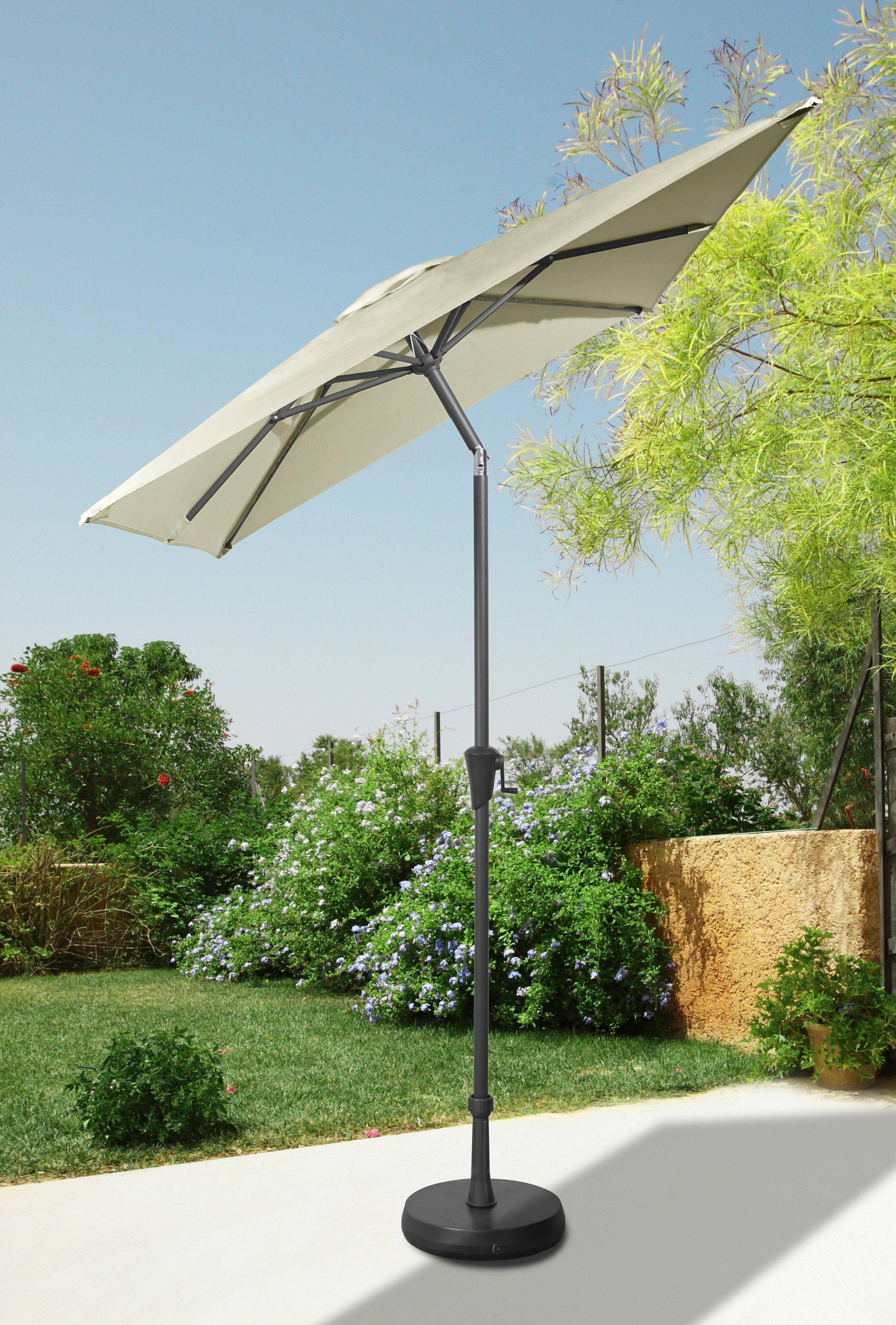 garten gut Sonnenschirm 160x230 cm, cremefarben