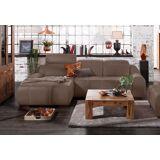 Premium collection by Home affaire Ecksofa »Spirit«, mit Recamiere, wahlweise mit Bettfunktion, dunkelbraun