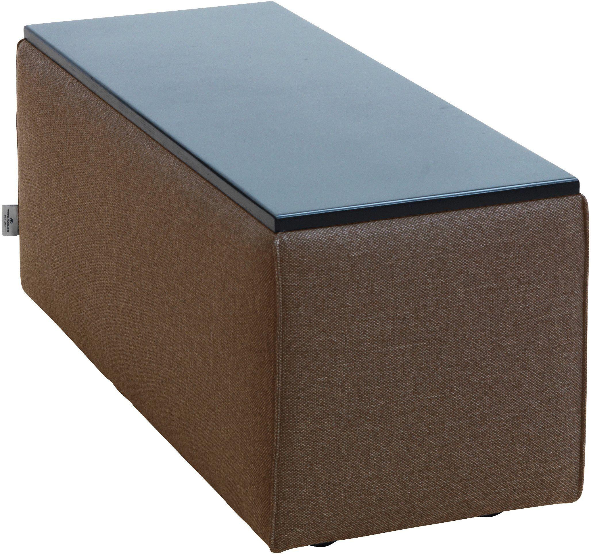 TOM TAILOR Tischelement »ELEMENTS«, Tischplatte schwarz, als Couchtisch oder Sofaelement einsetzbar, coconut brown TBO 12