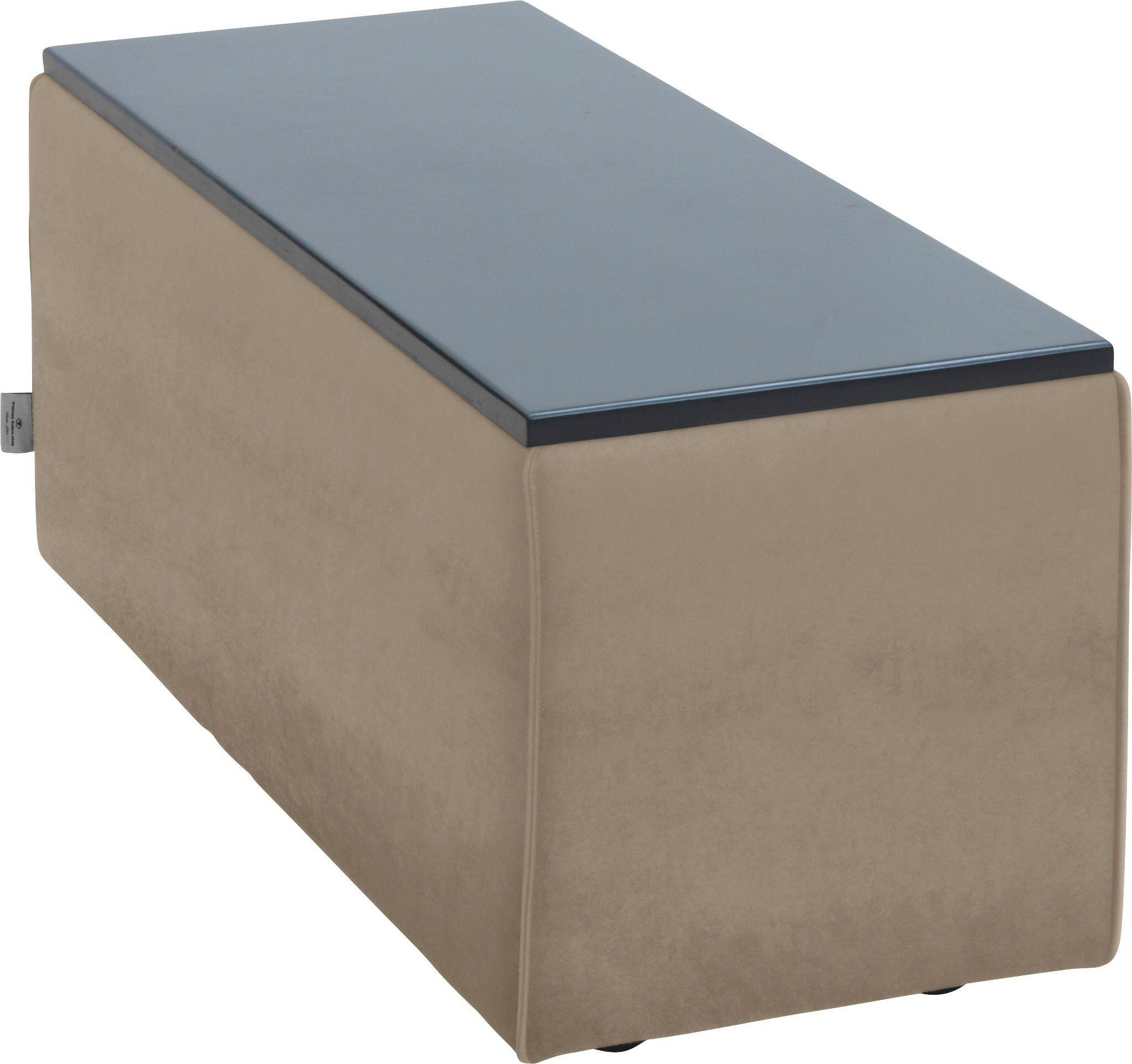 TOM TAILOR Tischelement »ELEMENTS«, Tischplatte schwarz, als Couchtisch oder Sofaelement einsetzbar, dune TSV 12