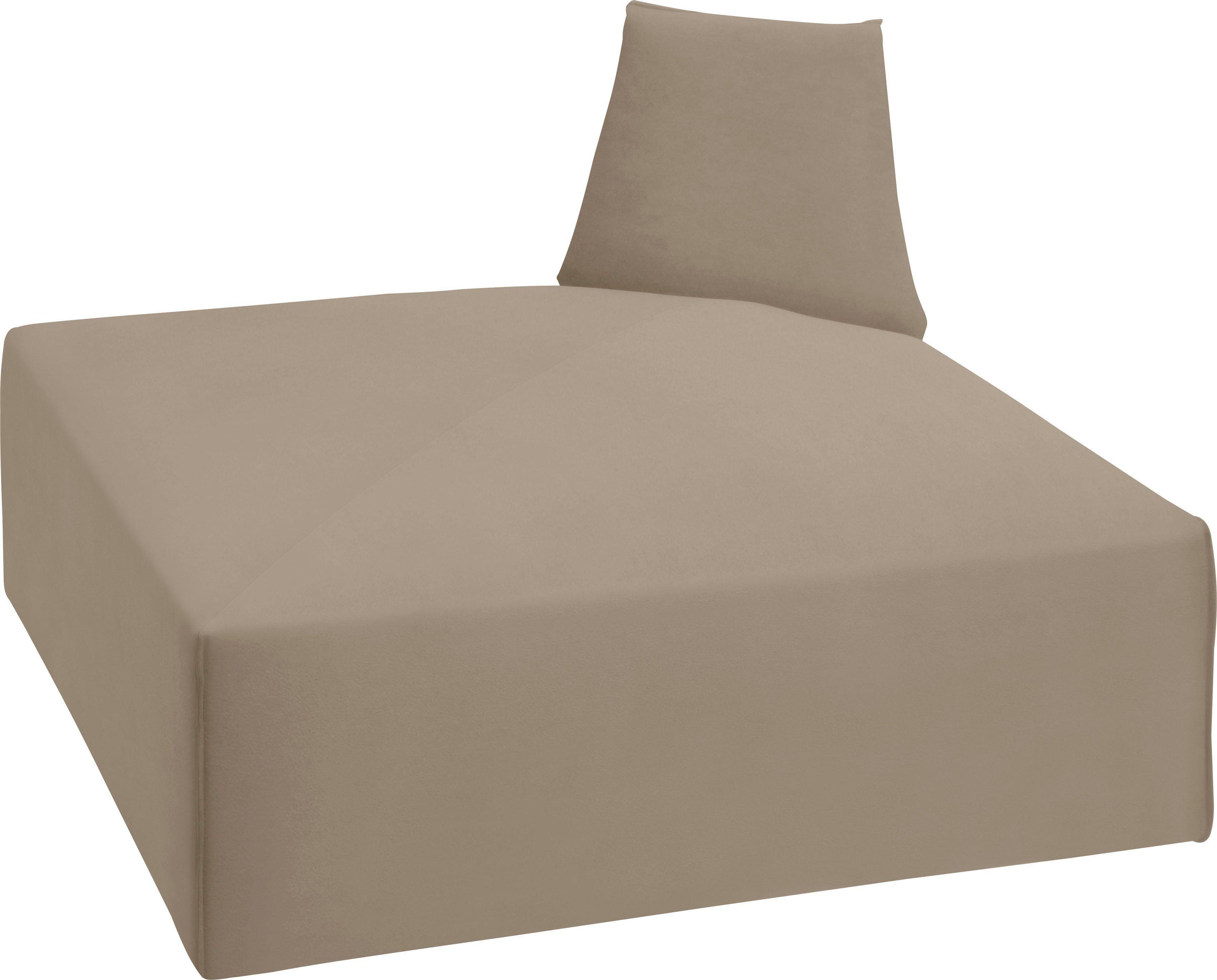 TOM TAILOR Sofa-Eckelement »ELEMENTS«, Außenecke zur Verbindung der Sofaelemente, dune TSV 12