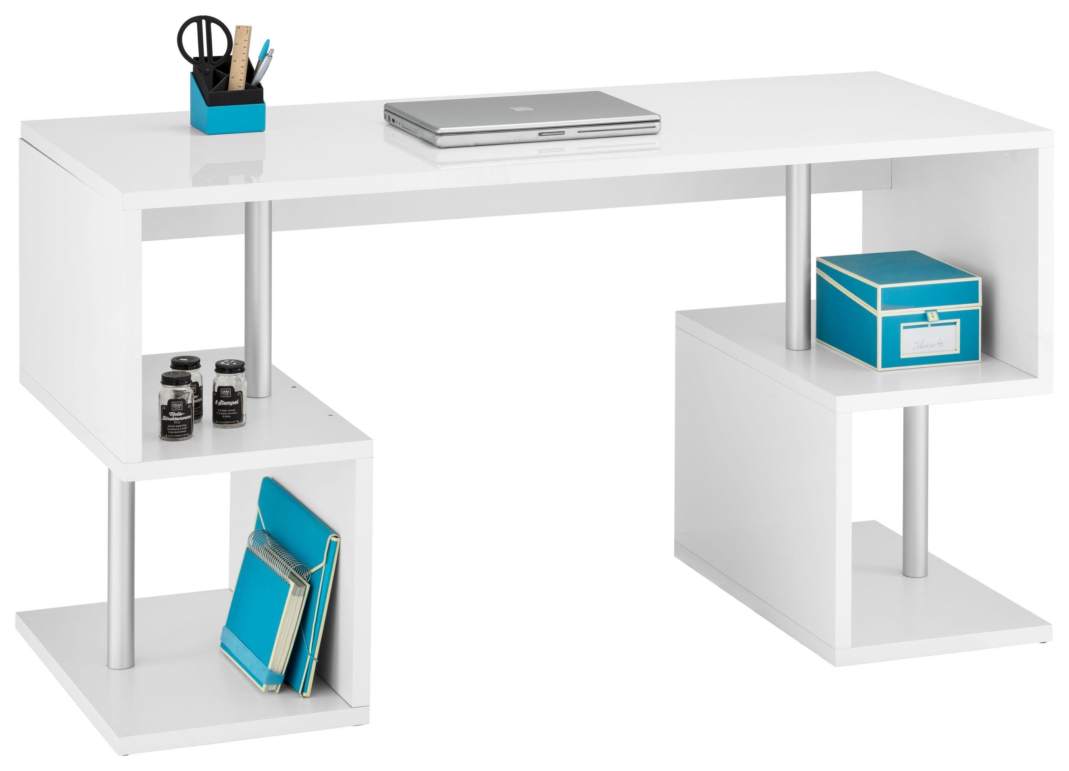 Tecnos Schreibtisch »Esse«, weiß Hochglanz