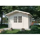 Kiehn-Holz Gartenhaus »Lillevilla 510«, BxT: 345x384 cm, inkl. Fußboden, natur