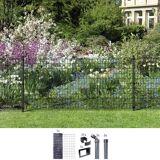 GAH Alberts Set: Schweißgitter »Fix-Clip Pro®«, 100 cm hoch, 15 m, anthrazit beschichtet, zum Einbetonieren