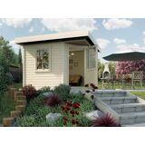 weka Gartenhaus »Designhaus 213 Gr.1«, BxT: 278x278 cm, inkl. Fußboden, natur