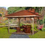 weka Pavillon »Paradies 3«, BxT: 433x433 cm, braun