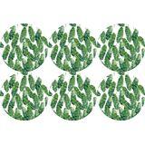 queence Getränkeuntersetzer GC0132, Set, 6-tlg., aus Acrylglas, weiß-grün