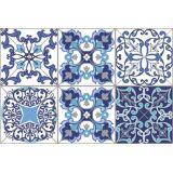 queence Getränkeuntersetzer GC0140, Set, 6-tlg., aus Acrylglas, weiß-blau-grau