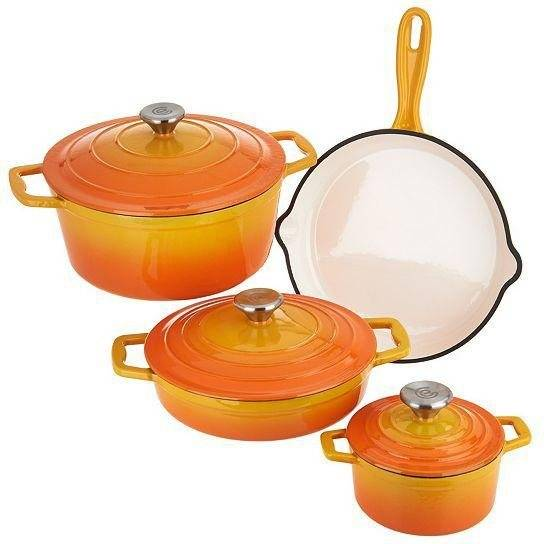 CS Koch-Systeme Topf-Set »Xanten«, Gusseisen, (Set, 7 tlg), Induktion, orange
