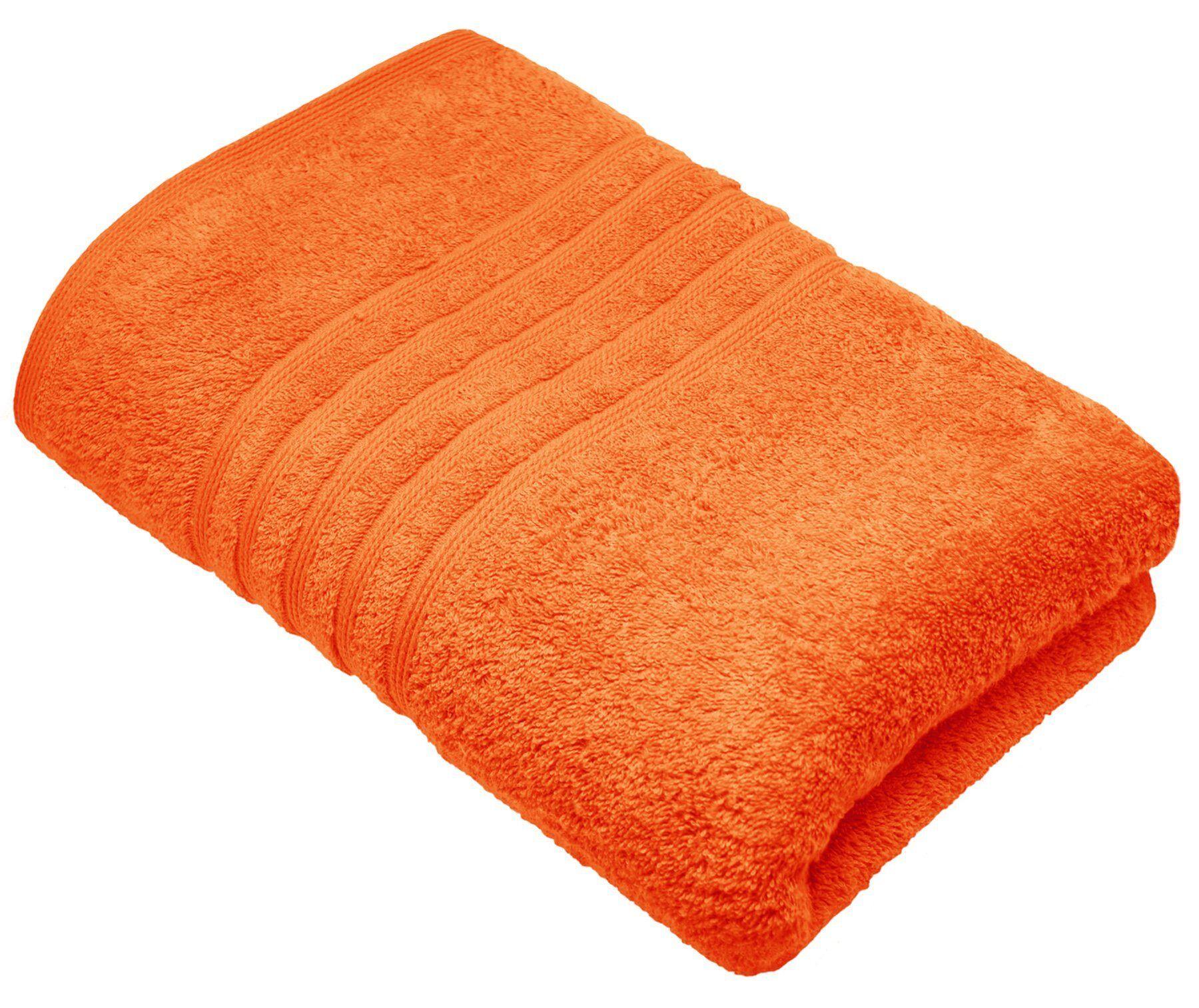 Lashuma Badetuch »London« (1-St), das einfarbige Strandtuch zum Sonne genießen! Größe: 100x150 cm, orange