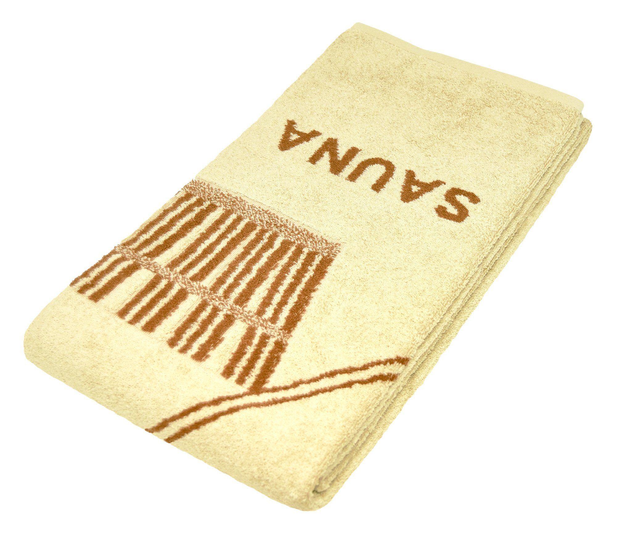 Lashuma Saunatuch »Stockholm« (1-St), ein Wellness Handtuch für Genießer!, beige
