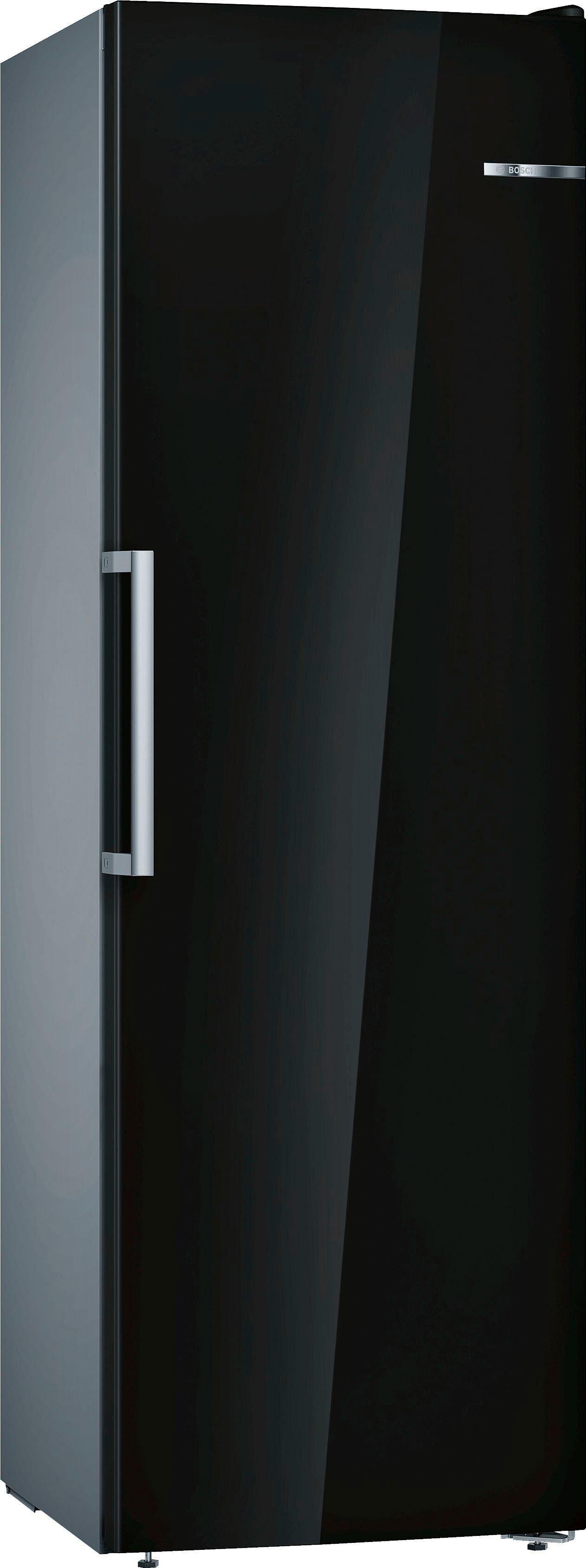Bosch Gefrierschrank 4 GSN36VBFP, 186 cm hoch, 60 cm breit, schwarz, Energieeffizienzklasse A++