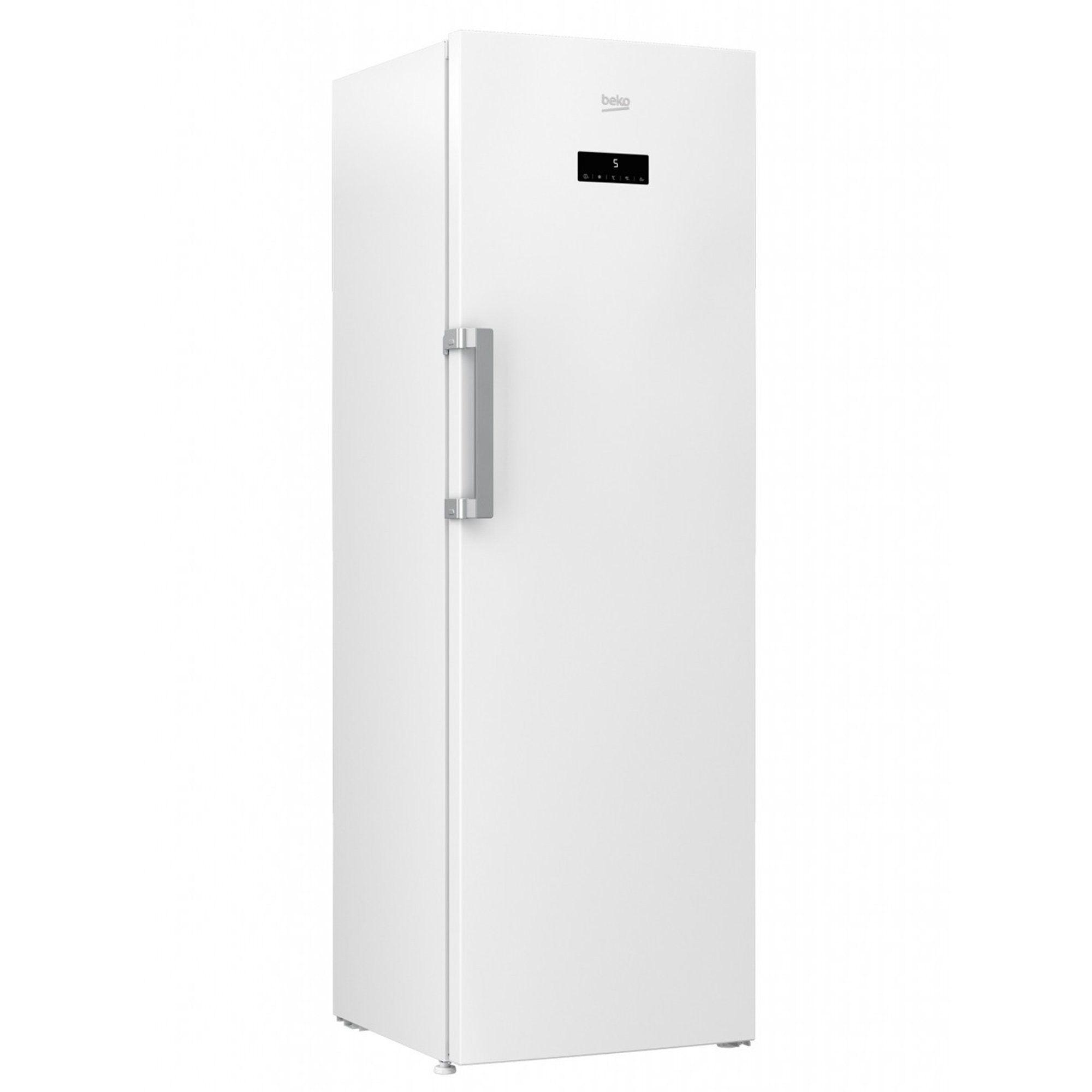 Beko Gefrierschrank RFNE312E33W, 185 cm hoch, 59.5 cm breit, A++ Supergefrierschaltung Vorgefriertablett mit Eiswürfelschale, Energieeffizienzklasse A++