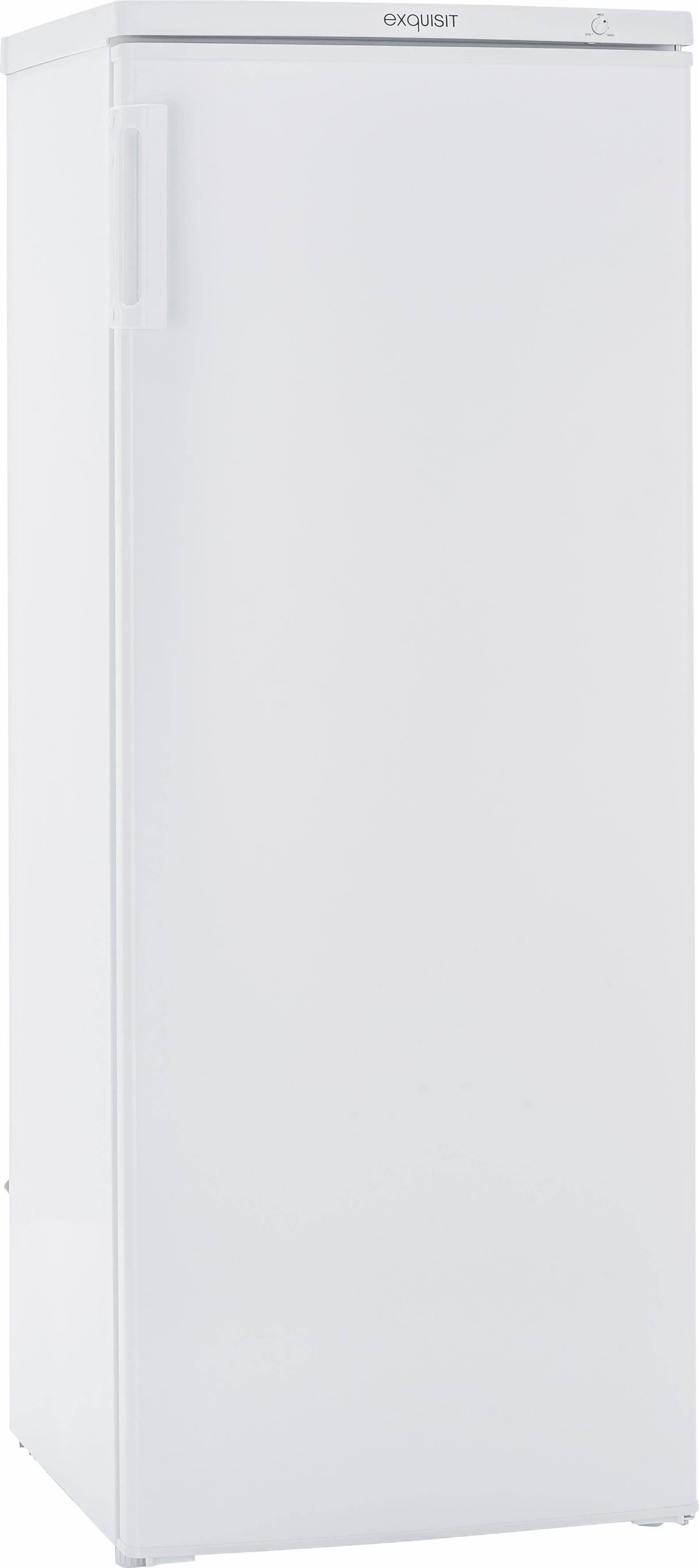 exquisit Gefrierschrank GS 235-4.2 A++, 143,0 cm hoch, 55,0 cm breit, weiß, Energieeffizienzklasse A++