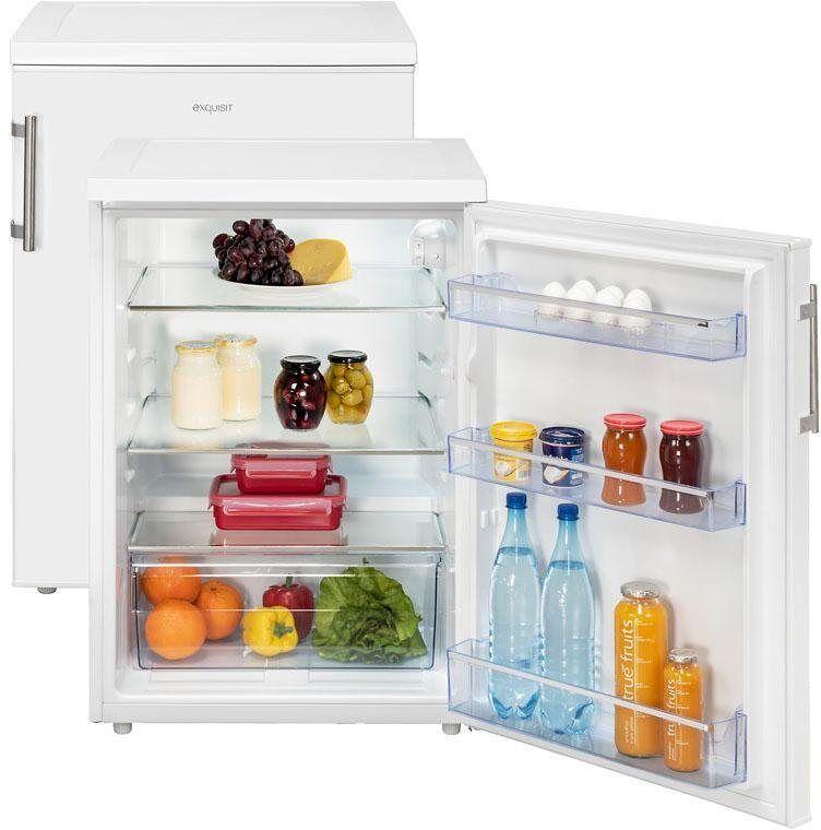 exquisit Table Top Kühlschrank KS 18-17 RVA++, 85 cm hoch, 60 cm breit, weiß, Energieeffizienzklasse A++