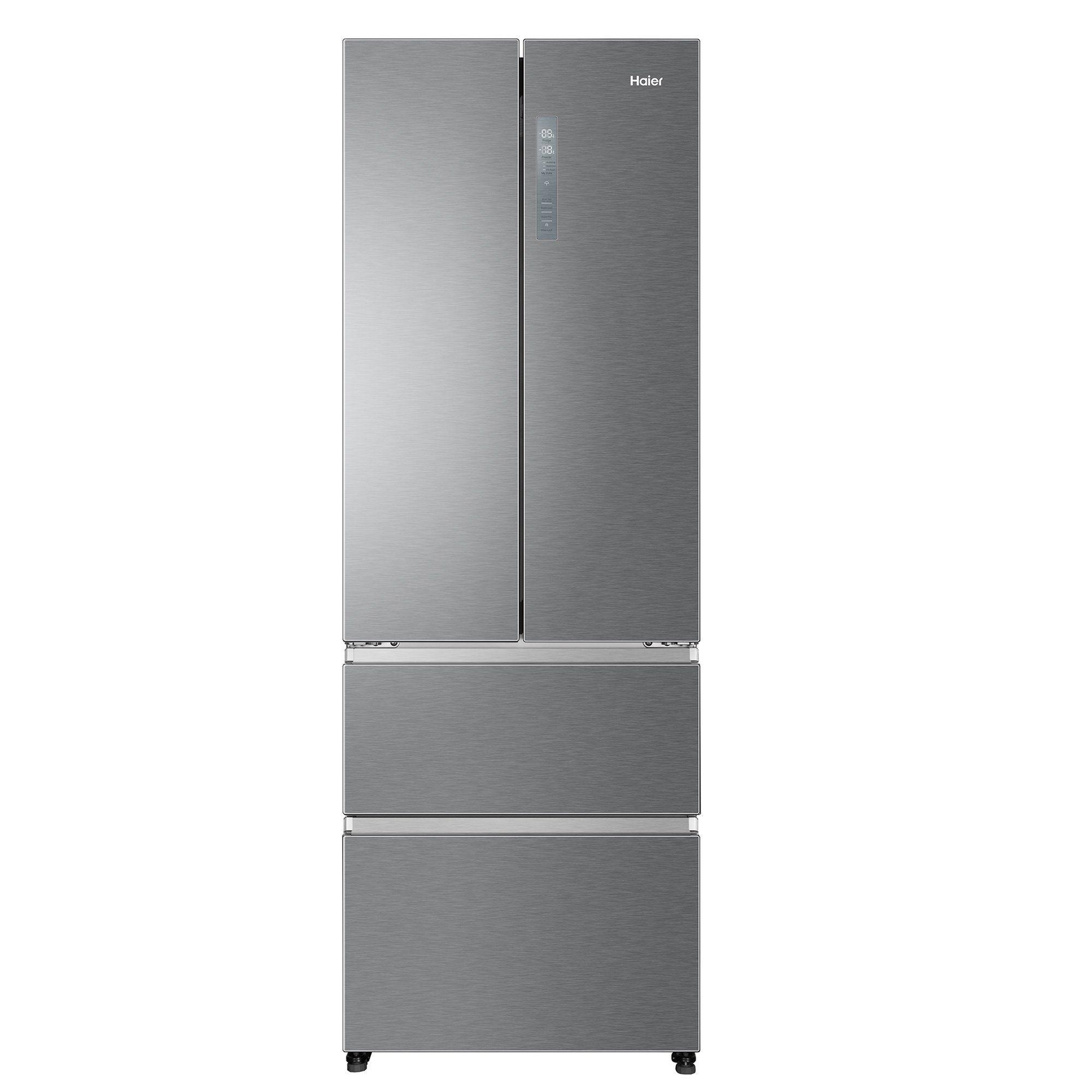 HAIER Kühlschrank HB20FPAAA, 200.5 cm hoch, 70 cm breit, A++ 3D Gefrierschubladen, Total No Frost, 2 Edelstahl - Flaschenregale, Energieeffizienzklasse A++